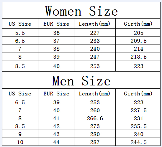 Find your shoe size with our shoe chart, shoe size chart and help with shoe size information at Infinity Shoes. Feel your best with great fitting shoes! JavaScript seems to be disabled in your browser.
