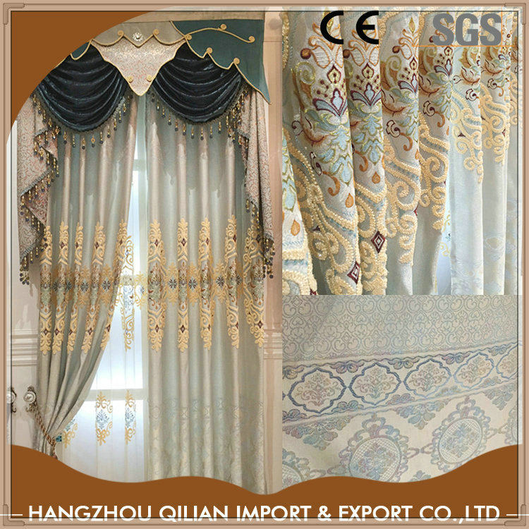 Turkish Curtains Embroidery Supplier
