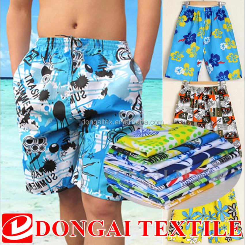 100% polyester velvet printing fabric for swim shorts