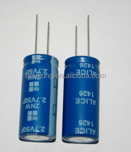 2.7V 50F Super Farad Capacitor Supercapacitor