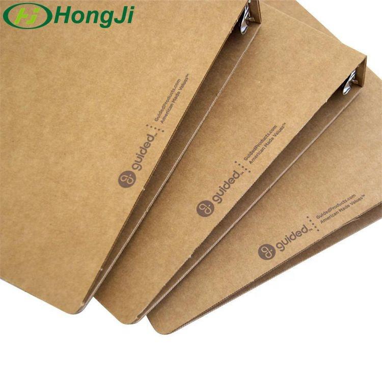 Пользовательская крафт-бумага, коричневая бумага, переработанная папка с 3 кольцами