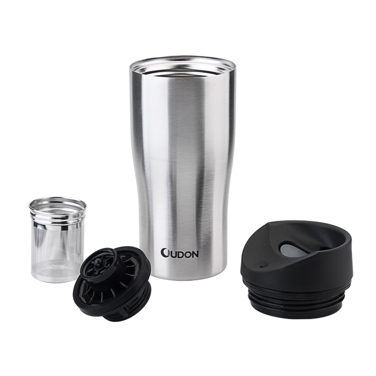 BPA Free with filter reusable coffee cup stainless steel cup coffee mugs