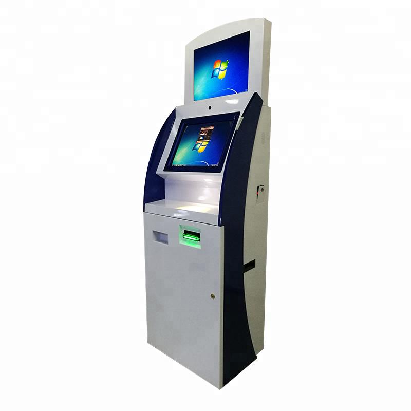 Doppio Schermo Bitcoin Chiosco Produttore Carta di Pagamento Chiosco Con Tre Porte