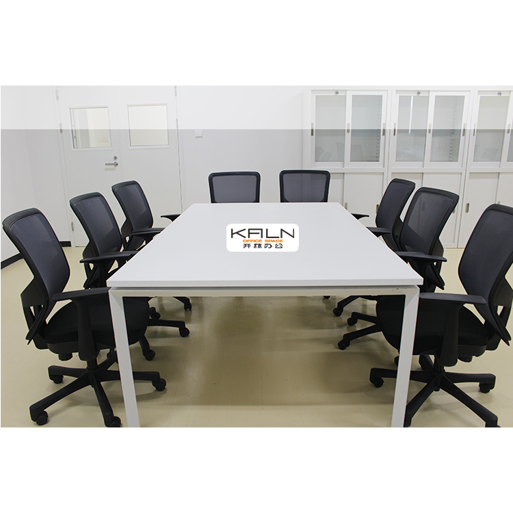 Factory Price Office Meeting Room Furniture Rectangular Meeting Desk White Office Chatting table