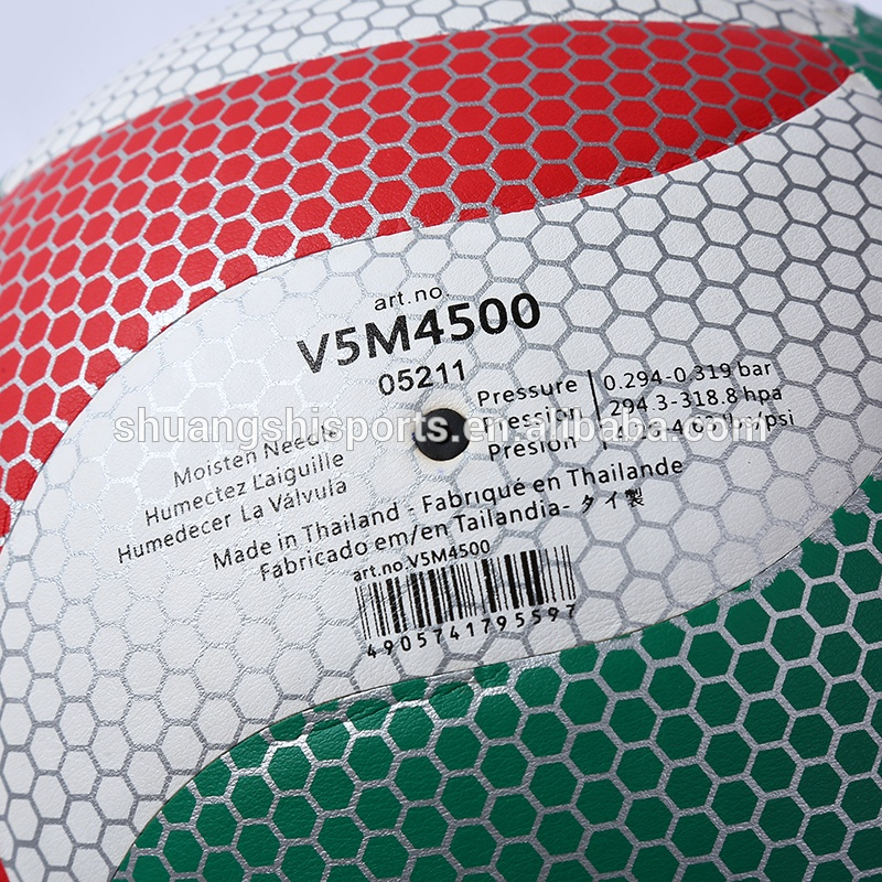 official size and weight custom print thermal bonded volleyball ball volley ball