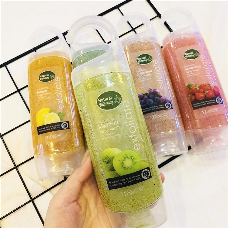 YESNOW brand lasting fragrance to remove chicken skin exfoliating dead skin aromatherapy scrub shower gel