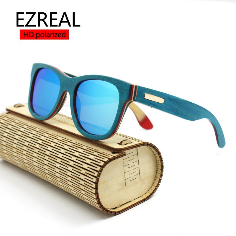 e072fe80cc9 מוצר - EZREAL polarized WOODEN Sunglasses Men bamboo Sun glasses Women Brand  Designer Original .. 2016 New ...