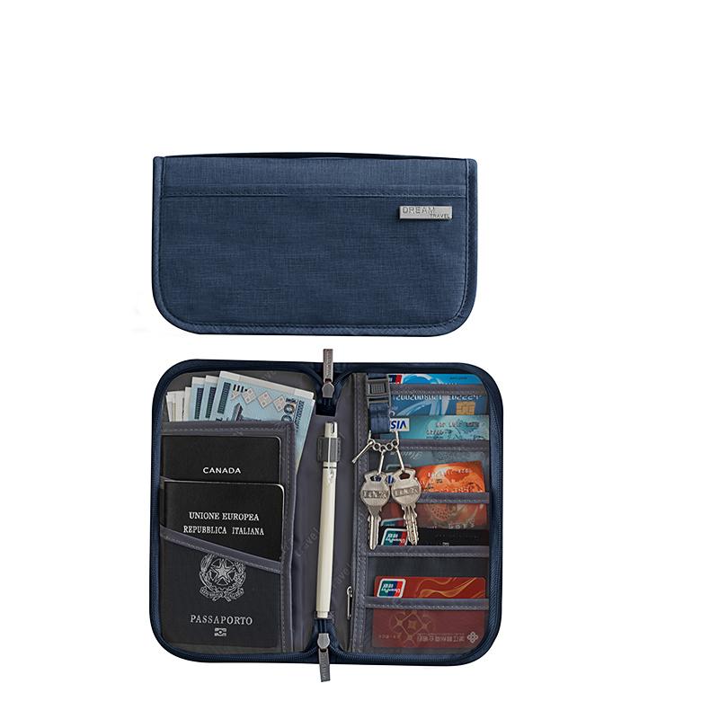 New Arrive Card Cash Document Organizer Rfid Blocking Travel Wallet Passport Holder