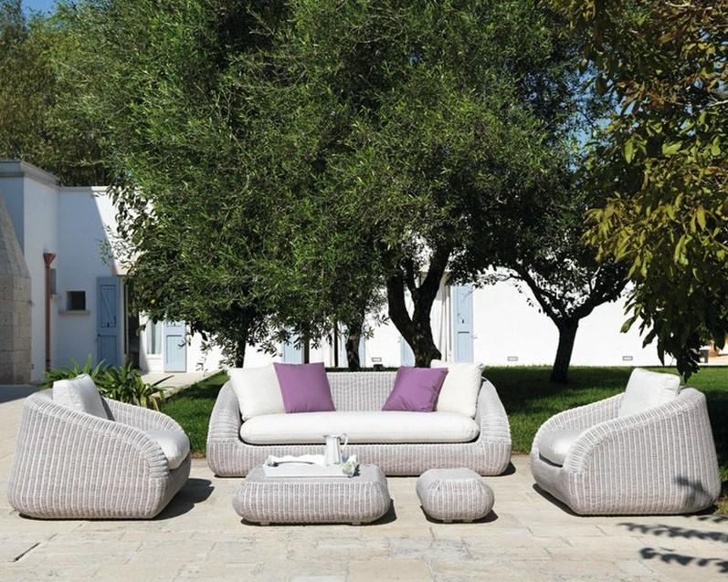 outdoor sectional corner lounge garden furniture L shaped outdoor rattan sofa set