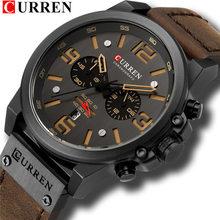 Часы CURREN Мужские, повседневные, с кожаным ремешком, кварцевые, деловые(Китай)