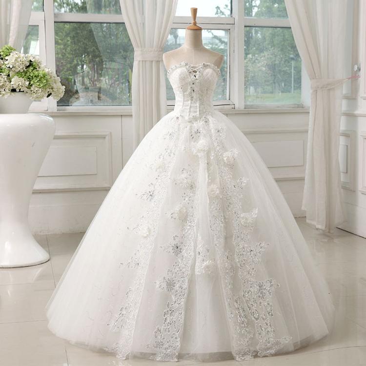 flowers Wedding dress 2015 new fashion sweet sexy lace ...