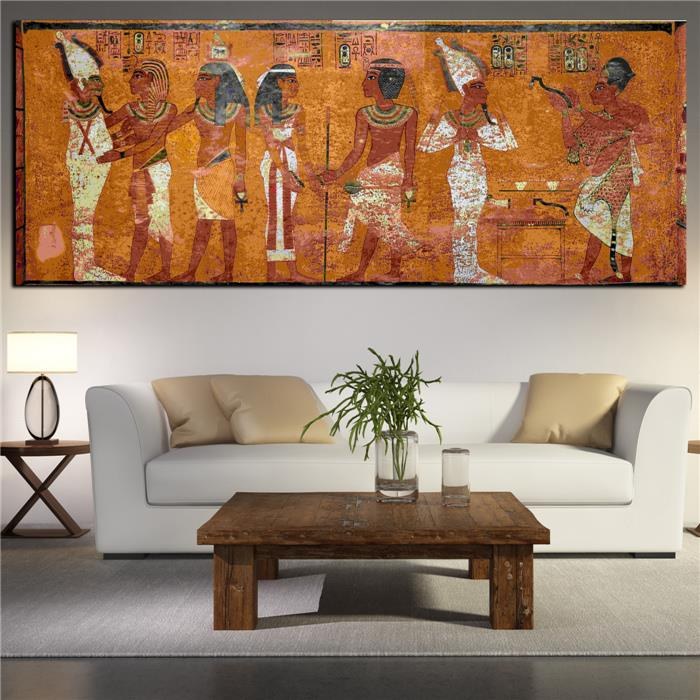 Large Wall Pictures For Living Room: Egyptian Decor Canvas Painting Oil Painting Wall Pictures