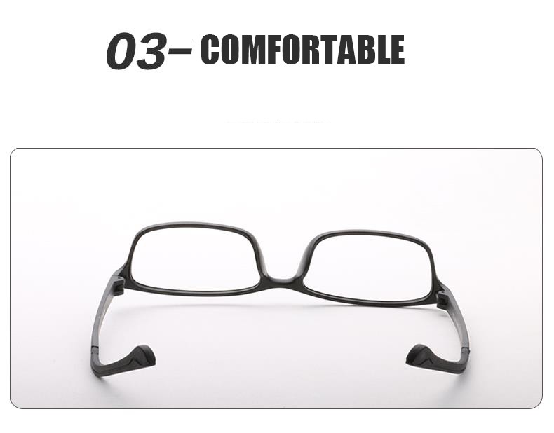 Practical Shauna Carbon Fiber Decoration Tr90 Eyeglasses Prescription Frame Men Resin Lens Ultralight Square Optical Glasses Myopia Men's Glasses