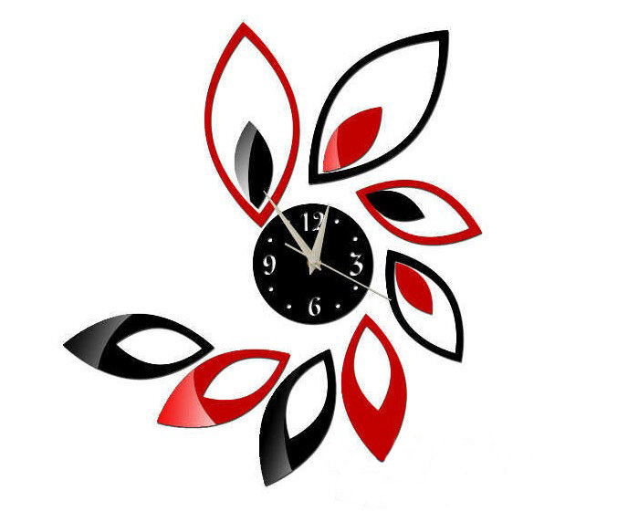 Home Decoration!mirrored Wall Clock Modern Design 3d Wall