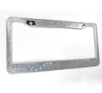 Beautiful Crystal Chrome Metal License Plate Frame