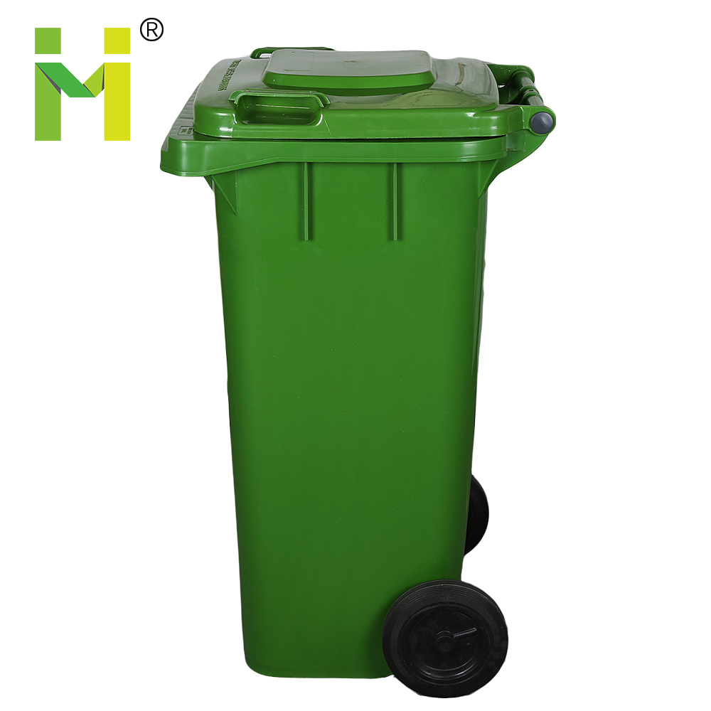 120L Plastic Wheeled Recycle waste bin Trash Can with Lid for Sale