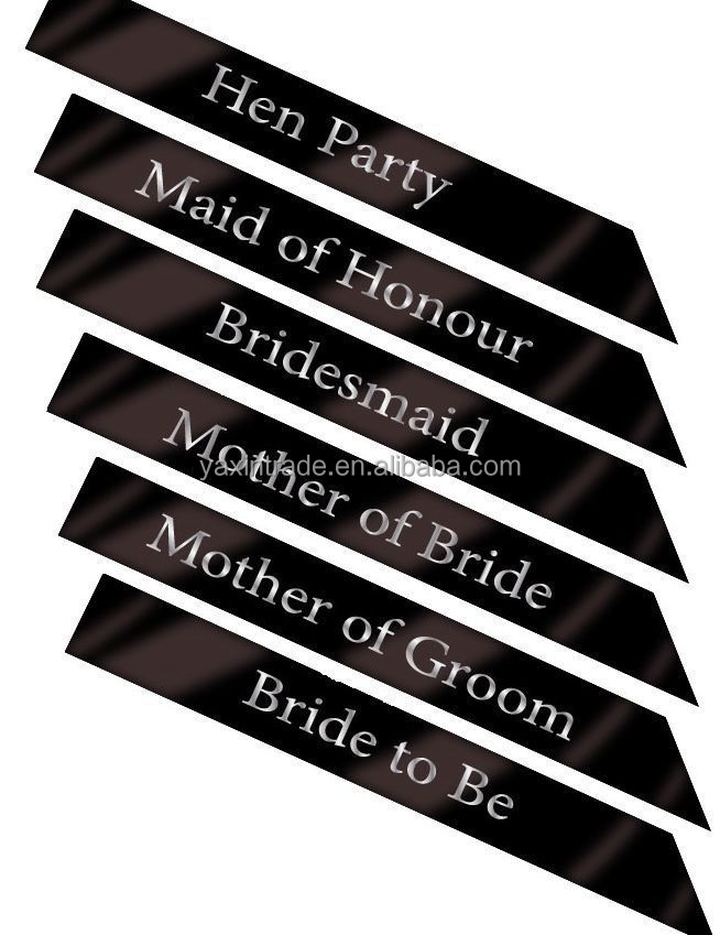 HEN NIGHT PARTY MOTHER OF THE GROOM SASH BLACK