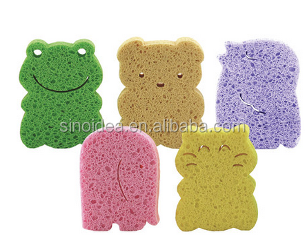 Animal Shaped Natural Cellulose Sponge Comfortable And