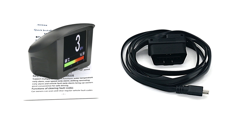 2 4'' AUTOOL Multi-Function Car OBD Smart Digital meter& Alarm Fault code  Water temperature gauge voltage speed meter display