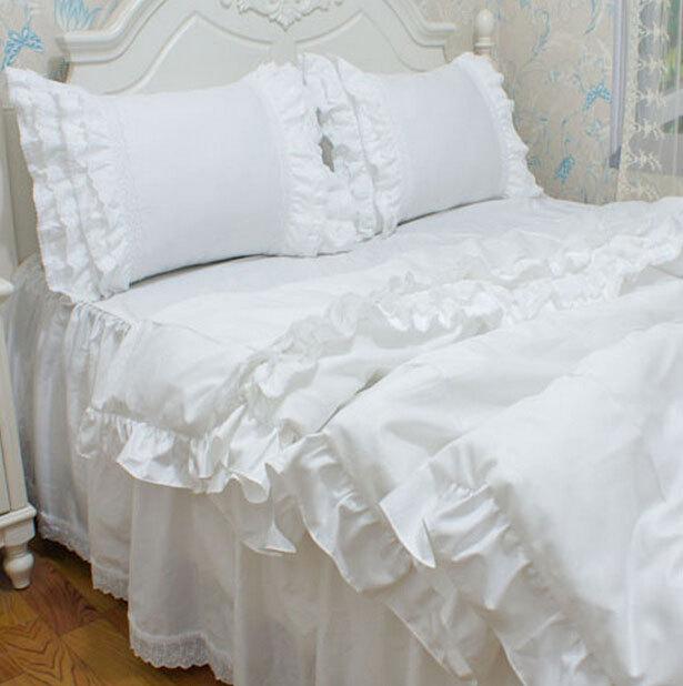 Popular White Ruffled Pillowcases Buy Cheap White Ruffled