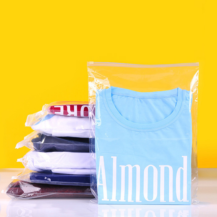 Clear PE Slider Custom Printed Sealable Plastic Bags For Clothes
