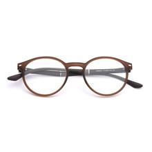 TR90 круглые очки по рецепту мужские винтажные Ретро прозрачные оптические компьютерные очки по рецепту для близорукости #88003(Китай)