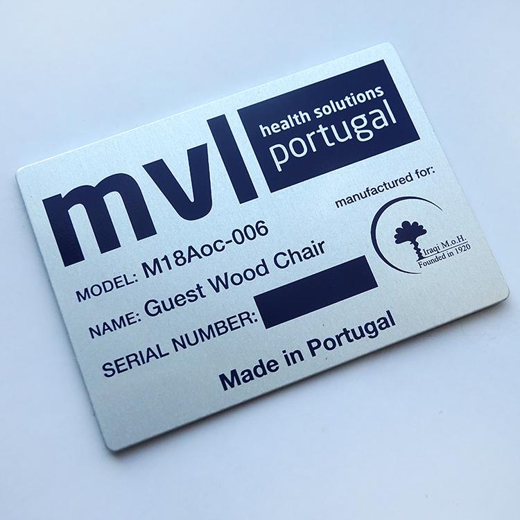 Customized silkscreen printing self adhesive metal label