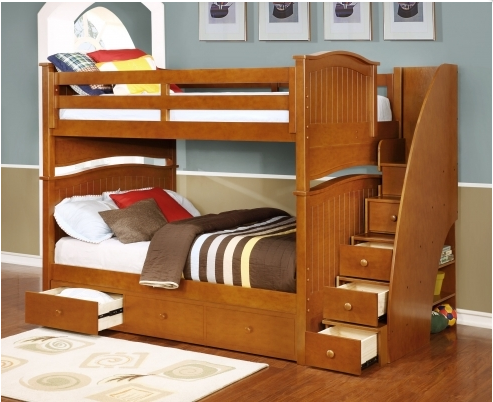 Factory Price European Style Small Space Twin Over Full Bunk Beds Buy Newzealand Imported Pine Twin Over Full Medium Bunk Bed Oem And Odm Accepted Wooden Bunk Beds For Twin Multi Function Size Customized