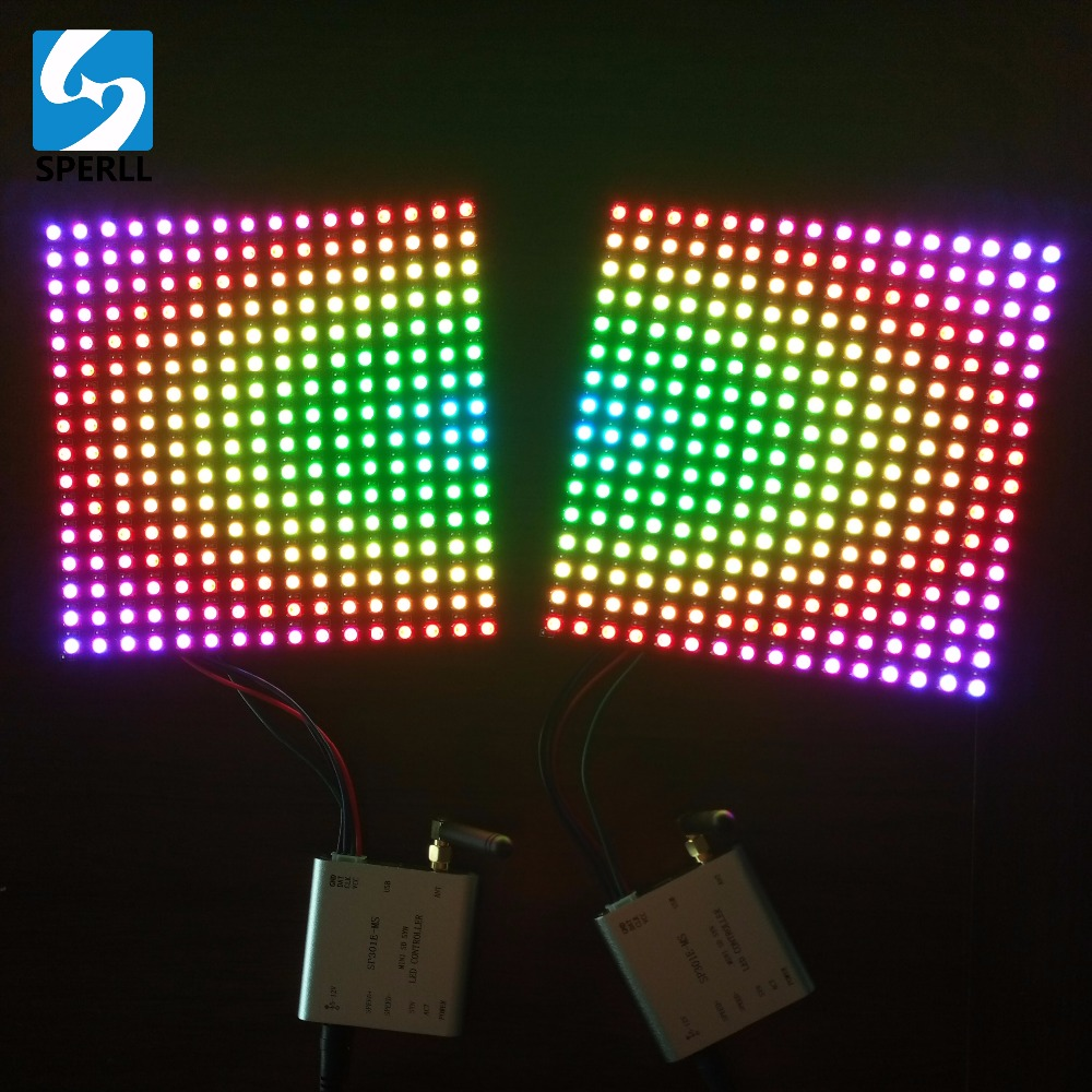 SP301E-MS RF Wireless Synchronous PC Software Programmable Pixel LED SD Card LED Controller For WS2812B SK6812 DMX512