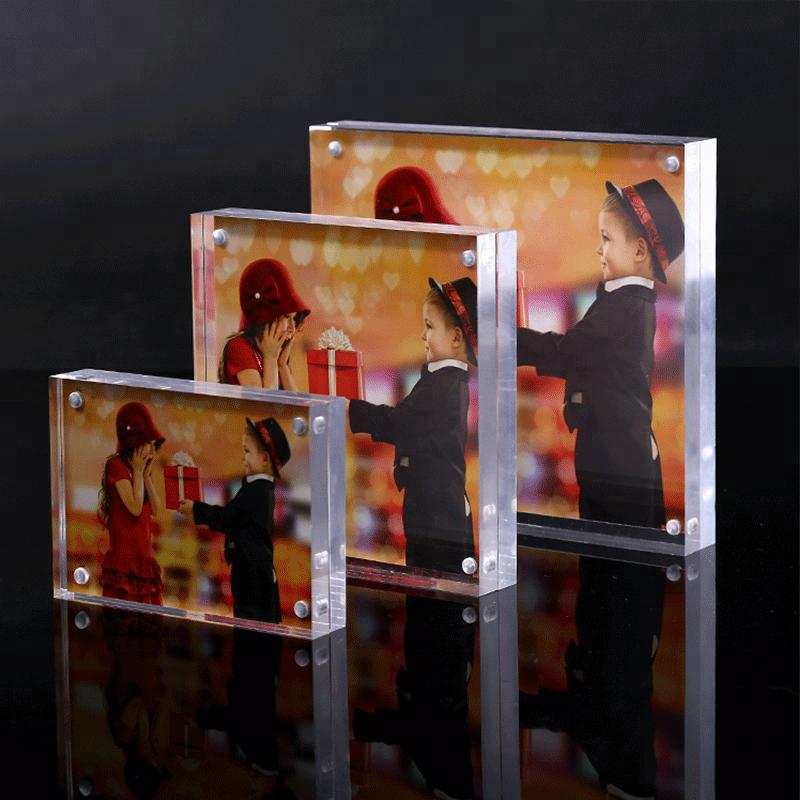Экономные 5x7 Акриловая Двухсторонняя Магнитная акриловые Безрамная картинная рамка для фото