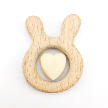 20mm Natural Wooden Heart Shape DIY Natural Wood Teething Beads