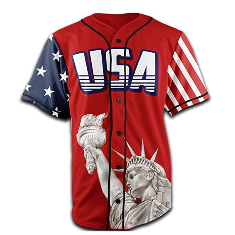 Оптовая продажа дешевых сублимационных пользовательских США бейсбольных Джерси
