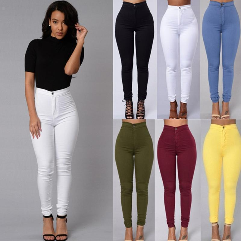 a3bf5a4cf 2019 New Women S Vintage Jeans Sexy Ripped Pencil Stretch Denim ...