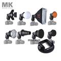 Meking Flash Accessories K9 Barndoor snoot softbox honeycomb beauty disc diffuser mount for speedlite speedlight flash