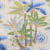Tropical rainforest plant style comfortable fabric dyed quilt