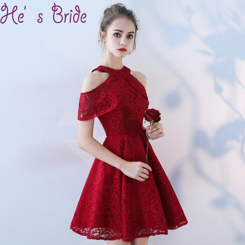 b5667a976e Detail Feedback Questions about Prom Dress Elegant Wine Red Halter ...