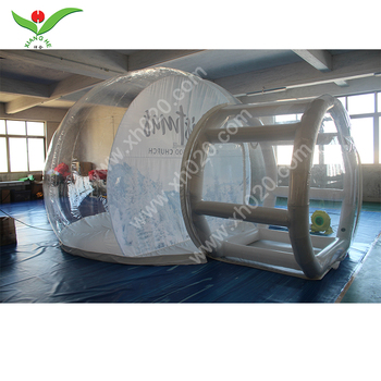 Newest inflatable max tube air tight bubble tent house Entrance Tunnel Inflatable Snow Globe