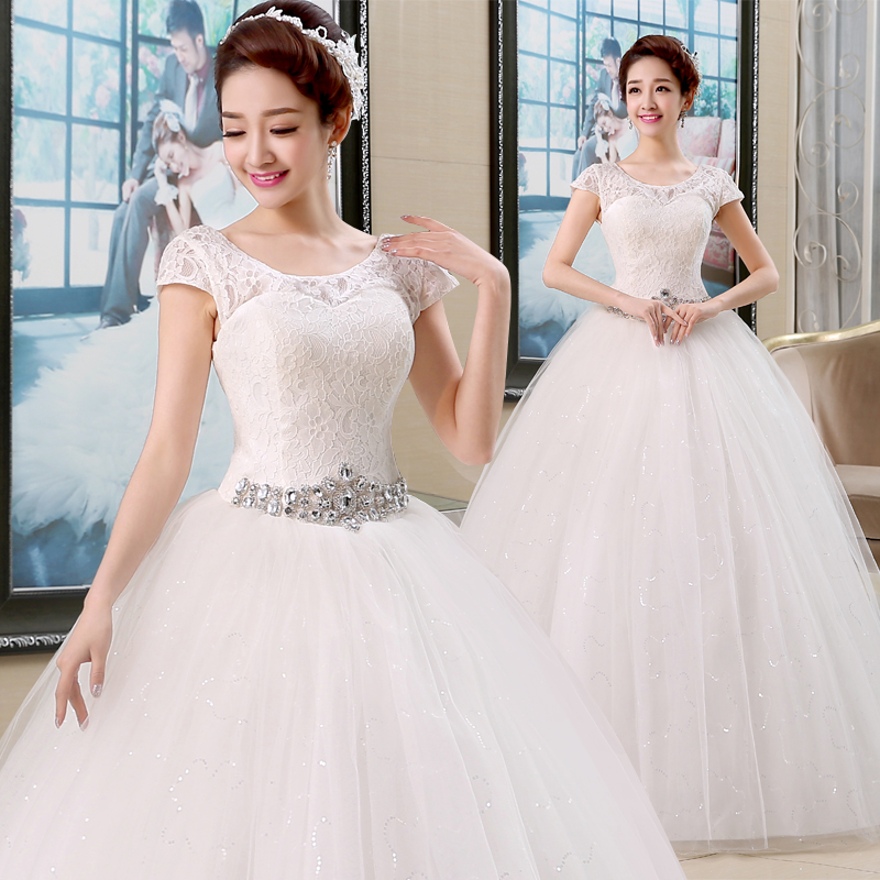 Wedding Gown Korean Style: Free Shipping 2016 New Arrival Korean Style Wedding