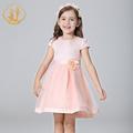 Nimble Autumn Girl Dress Jacquard Ball Gown Handmade Flowers Pearls Beaded Girls Clothes