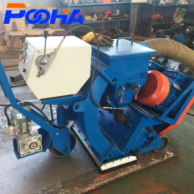 China floor shot blast cleaning machine/Mobile road sand blasting machine