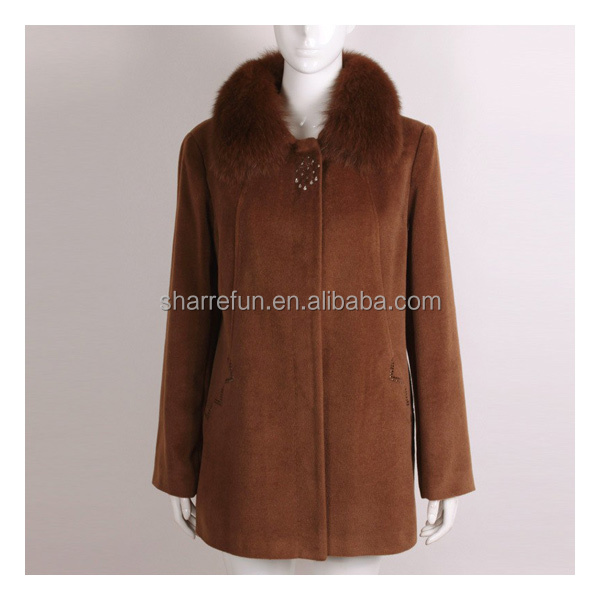 100% cachemire, russe. manteau d'hiver les femmes Vestes