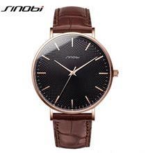 SINOBI, новинка, 3D принт, простой дизайн, мужские часы, 316L, сталь, кожа, водонепроницаемые часы, мужские, Rolexable, импортные кварцевые часы, подарки(Китай)