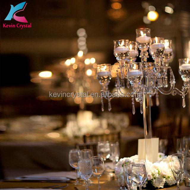 factory wholesale Crystal Wedding Candelabra centerpiece stand
