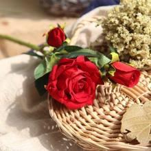 YO CHO 2 головки настоящие Розы Свадебные цветы Искусственный Пион Шелковый бархат цветок Свадебный букет украшение для дома украшение для ве...(Китай)