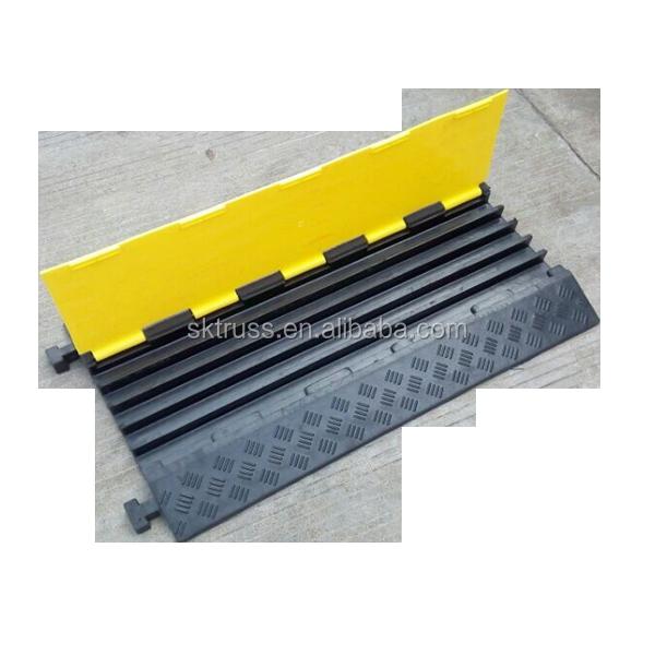 Защитные напольные пандусы для кабеля, защита от царапин пола, резиновый протектор кабеля