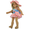 New AMERICAN PRINCESS Pink Bikini Swimsuit Swimwear Doll clothing for 18 inch girl doll clothes and