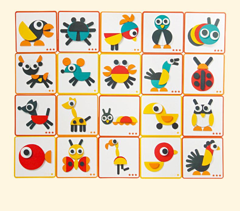 Головоломка Монтессори, обучающая деревянная головоломка в форме животного