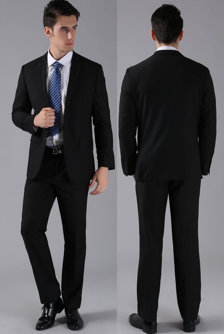 (Kurtki + Spodnie) 2016 Nowych Mężczyzna Garnitury Slim Fit Niestandardowe Garnitury Smokingi Marka Moda Bridegroon Biznes Suknia Ślubna Blazer H0285 15