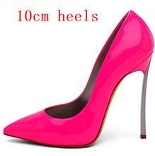 Новое поступление, женская обувь, сексуальные туфли на шпильках, высокий каблук 12 см/10 см, острый носок, для знаменитостей, для вечеринок, под...(Китай)
