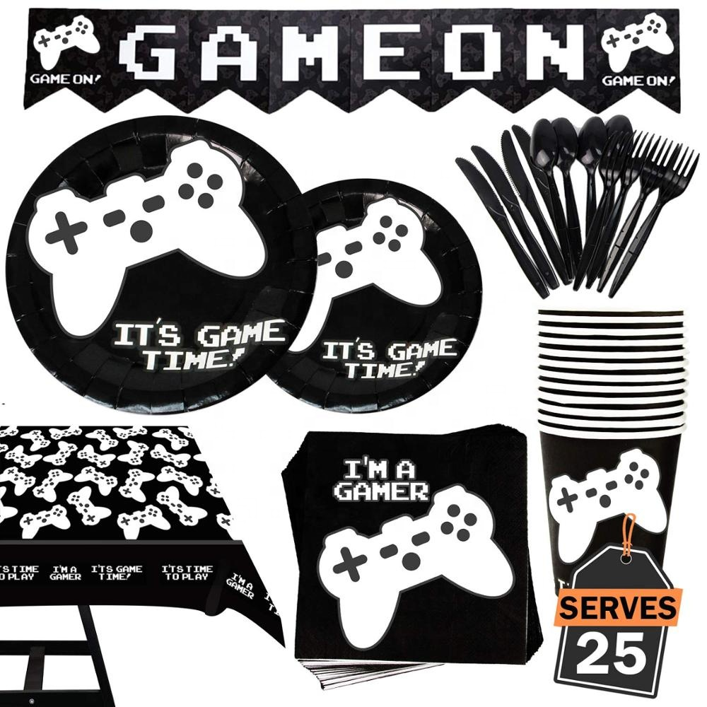 Umiss Video Game Party Supplies  serves 20   Birthday Decoration ...